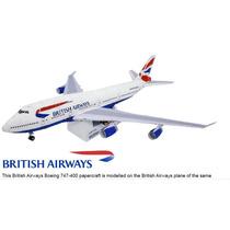 British Airways Boeing 747-400 Maquete Modelo Réplica Avião