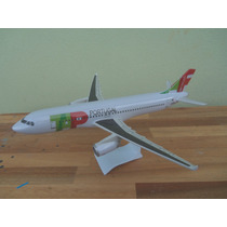 Avião Airbus A320-200 Tap Portugal 20cm Miniatura Maquete