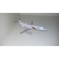 Maquete Em Resina Avião Fokker 100 Pga