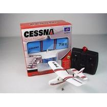 Mini Avião Cessna 182 9g Controle Remoto Bastante Resistente