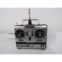 Rádio Controle Futaba Usado Modelo Fp-t4nbf Conquest Leia