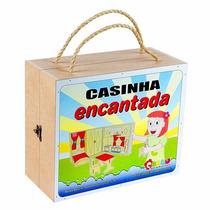 Casinha Encantada Maleta Mdf 30 X 25 X 14 Cm Carlu Original