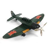 Aviao Militar Decorativo Vintage Retro Metal Latao