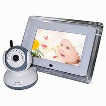 Babá Eletrônica Vídeo Lcd 7 Câmera Wireless Visão Noturna