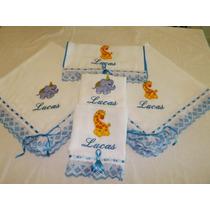 Enxoval Bebê Presente Personalizado Bordado Fralda Cremer