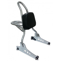 Sissy Bar Destacável Fat Boy Com Bagageiro - Wingscustom