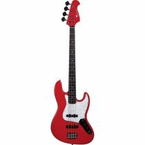 Contrabaixo Eagle Sjb005 Jazz Bass 4 Cordas Vermelho