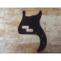 Escudo Precision Bass 62 Padrão Fender Preto 1 Camada