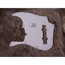 Escudo Jazz Bass Am Std V 5c 1 Camada Padrão Fender Branco