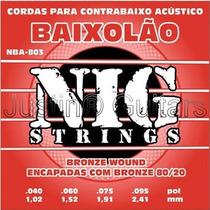 Cordas Nig P/ Baixolão 4 Cordas Nba803 - .040 - .095