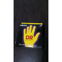 Encordoamento Dr Strings Neon Yellow Para Baixo 6 Cordas