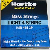 Hsb445 Encordoamento Corda Para Baixo 4 Cordas Hartke -3kits