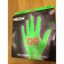 Cordas Contrabaixo 4 Cordas Dr Neon Verde 0.40/100
