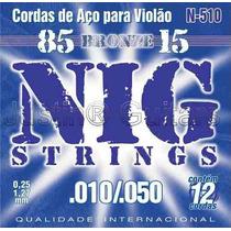 Cordas Nig Para Violão Aço 12 Cordas - N510 - .010 - .050
