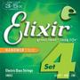 Encordoamento Elixir Para Contrabaixo 4 Cordas 045 - 100