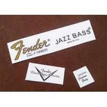 Jazz Bass Waterslide - Utilizado Nos Adesivos Fender
