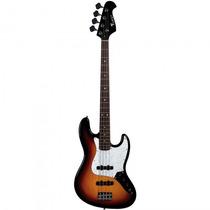 Baixo Eagle Sjb-005 Sb Sunburst Jazz Bass - Refinado