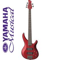 Contra Baixo 5 Cordas Yamaha Vermelho Brilhante Bass