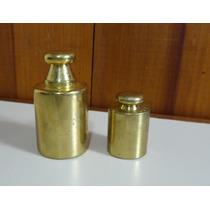 2 Pesos Balança - Bronze Polido - 500g E 200g - Como Novos