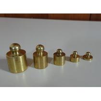 5 Pesos Balança Bronze Polido 20g 10g 5g 2g 1g Como Novos