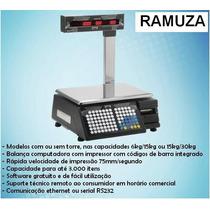 Balança Eletrônica Ramuza 30kg Impressora Incorporada