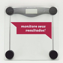 Balança Digital De Banheiro Vidro Temperado Suporta 180 Kg