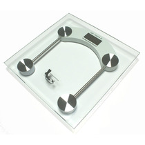 Balança Digital Banheiro Pessoal Vidro 8mm Pesa Até 150k Qua