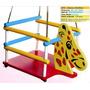 Brinquedo Infantil - Cadeira De Balanço Girafinha Em Madeira