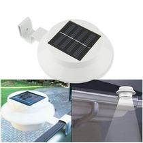Luminária Solar Telhados, Calhas, Cercas, Jardim, Muros Etc