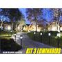 3 Luminarias Solar Led Balizador Espeto Jardim Area Externa