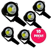 10 Espeto Luminaria Para Jardim Com Lâmpada Cob Led 3w