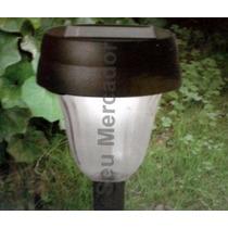 Luminária Com Lâmpada Led Em Metal Para Jardim Energia Solar