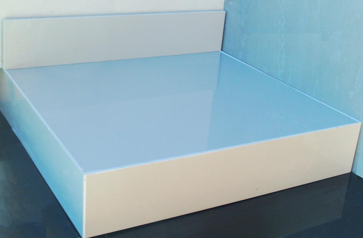 Bancada De Porcelanato Madeira Banheiro Arthome R$ 250 00 no  #3A6F91 1200x789 Bancadas Em L Para Banheiro