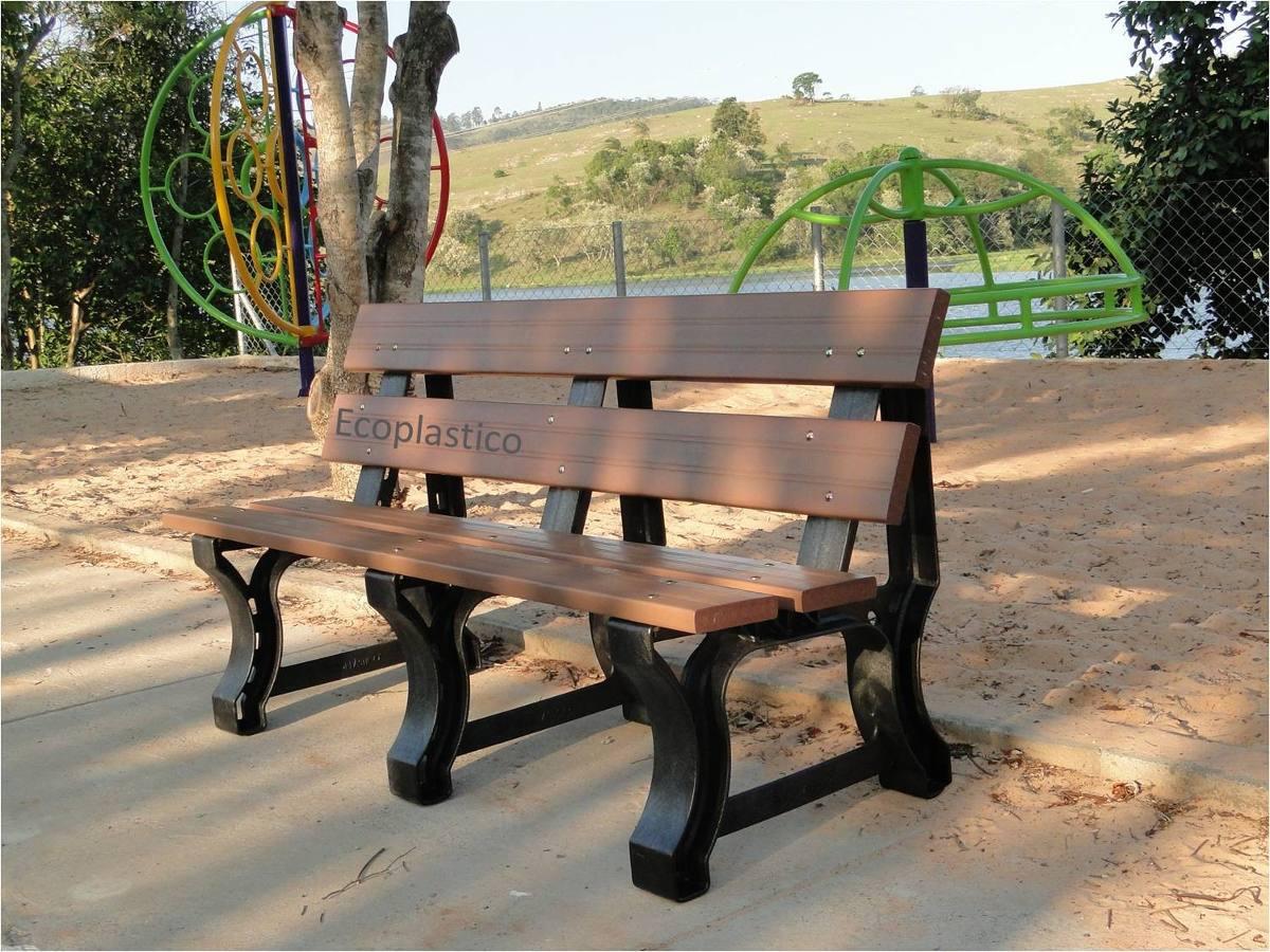 Banco De Jardim Em Madeira Plástica 100% Ecológico !!! R$ 354 90  #937238 1200x900