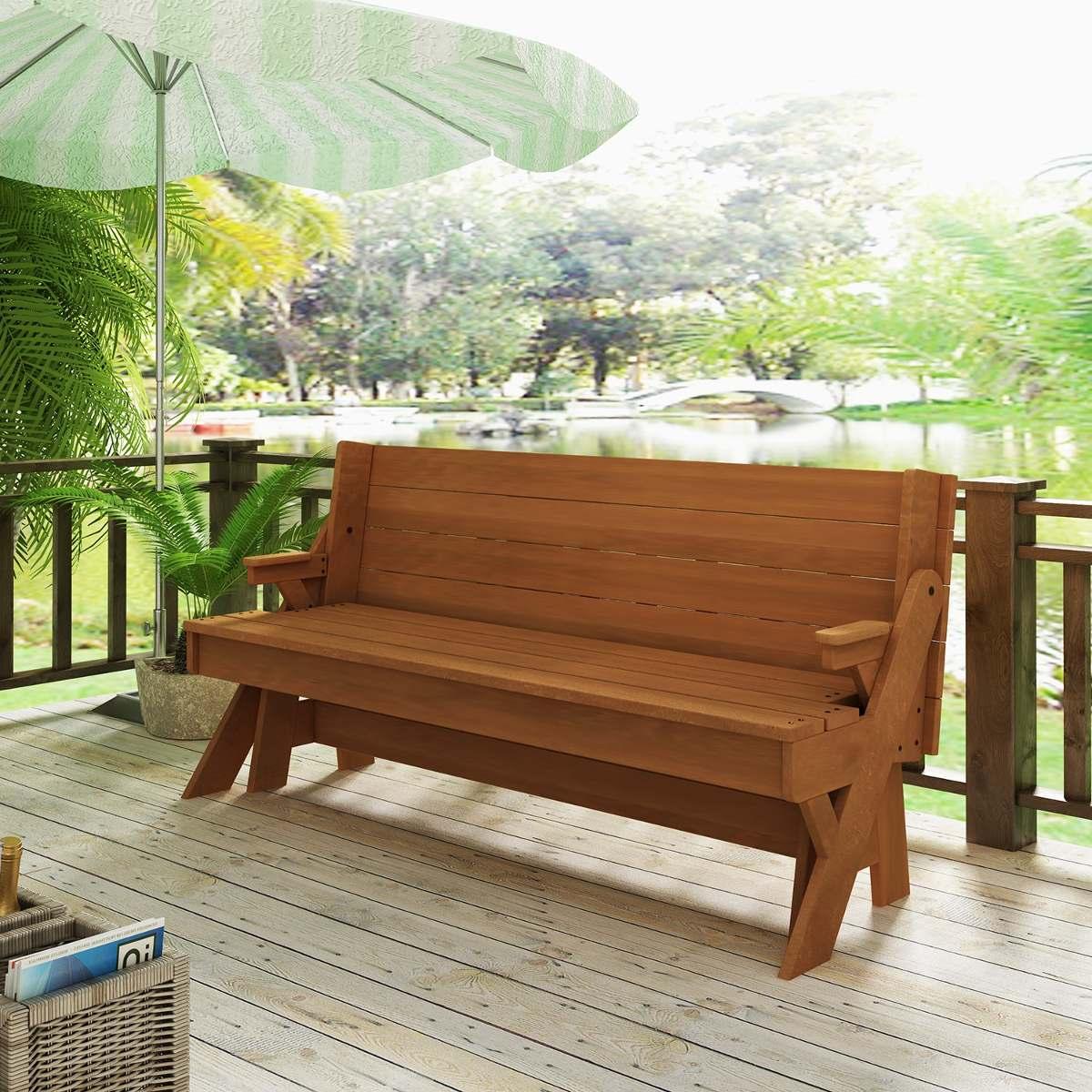 mesa de jardim que vira banco:Banco De Jardim Vira Mesa – R$ 1.205  #46651C 1200x1200
