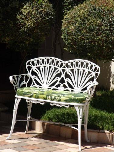 banco de jardim em ferro fundido : banco de jardim em ferro fundido:Banco Namoradeira Fundido Para Jardim Primavera – Novo – R$ 369,00 no