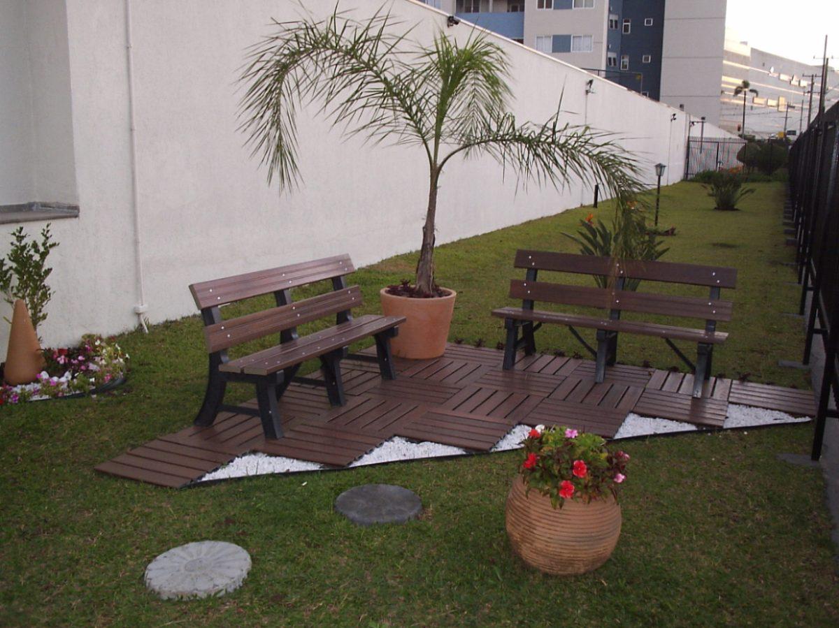 banco de jardim de madeira:Banco Para Jardim Madeira Plástica – R$  #685C3C 1200x899