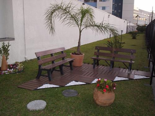 Banco Para Jardim Madeira Plástica