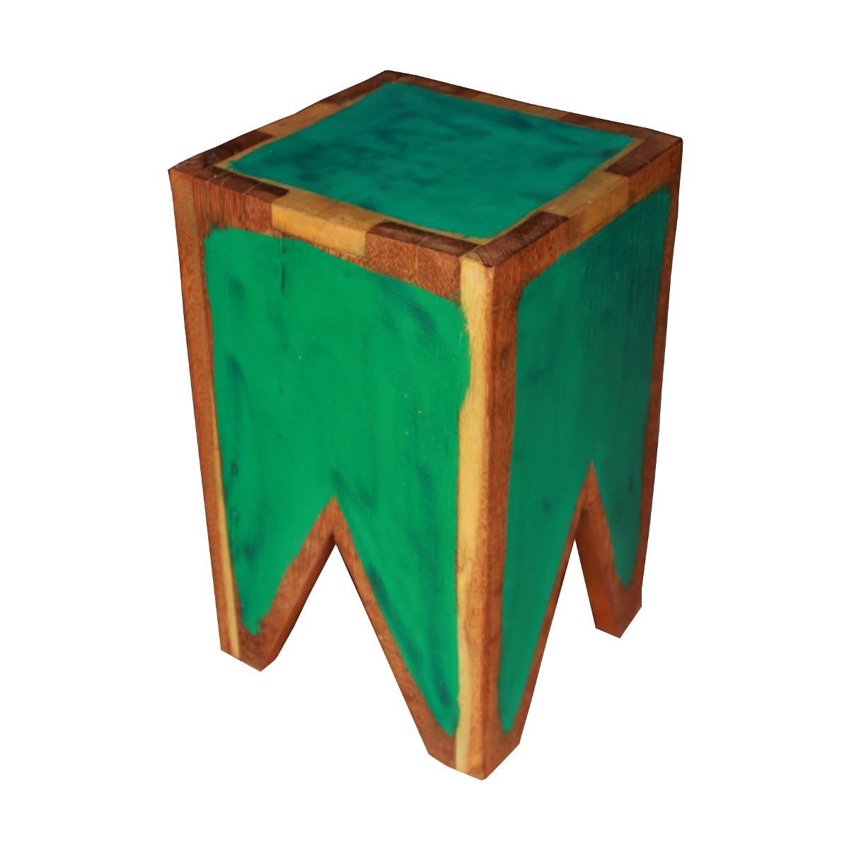Banco Volp Em Madeira Rustica Pintado Na Cor Verde Lindo R$ 119 90  #038D59 1200x1200