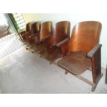 Poltronas/cadeiras De Cinema/teatro - Antigas - 5 Em Cada