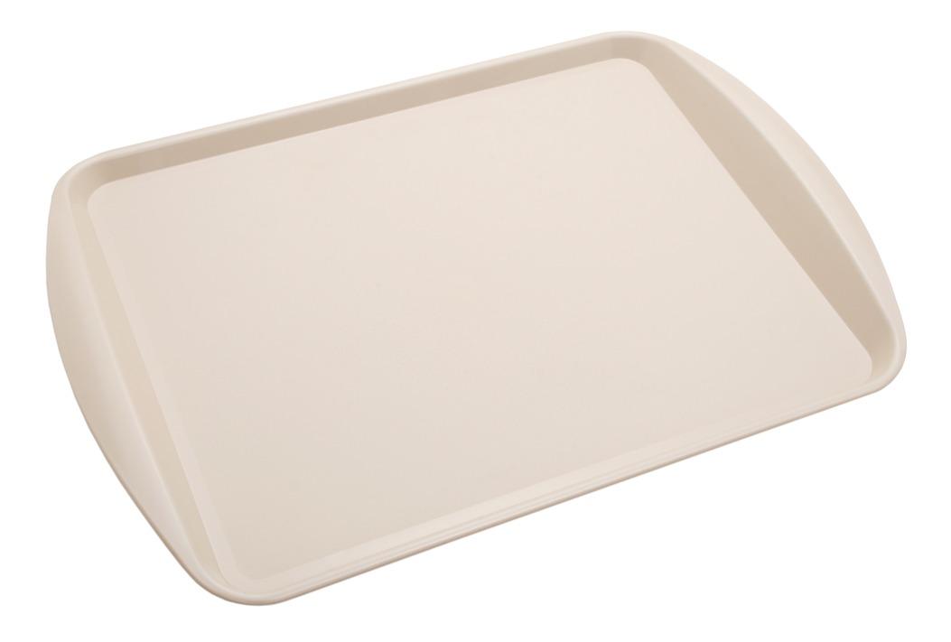 Bandeja de pl stico fast food bege 43 9 x 30 5 x 3 3 cm - Bandeja de plastico ...