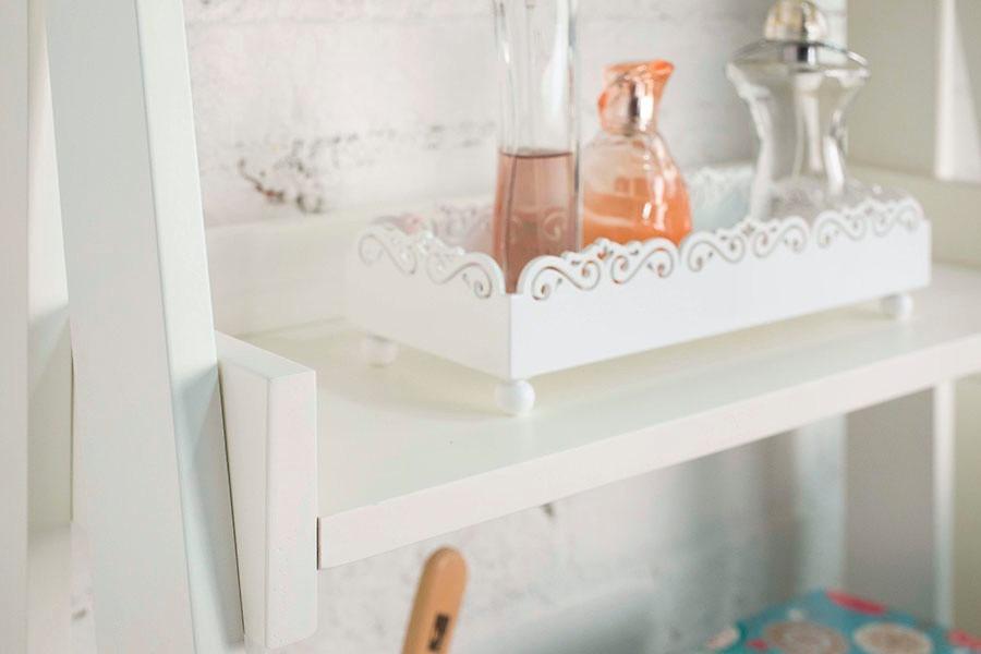 Bandeja Lavabo Banheiro Espelhada Difusor Sabonete Perfume  R$ 69,90 no Merc -> Decoracao Banheiro Bandeja