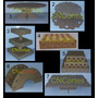 Kit Bandejas Provençal Estrelas Mdf Porta Doces Cupcake 7 Pç