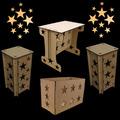 Kit Provençal Estrela 1 Mesa 2 Cubos 1 Caixa Presente Mdf