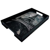 Bandeja Ret Canvas (torre Eiffel) Mdf 3mm Luxo Mod.5013