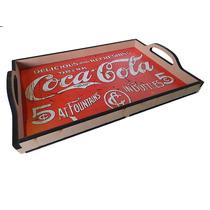 Bandeja De Madeira Mdf Refrigerante Coca Cola 28 X 40 Cm