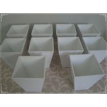 Kit Cachepot 10 Unidades Mdf Branco Festa Decoração Vaso