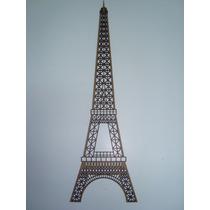 Recorte Em Mdf 3mm - Silueta Torre Eiffel 78x23 Cm - 1 Unid
