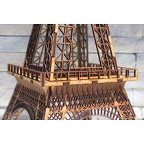 Torre Eiffel Mdf Cru - 2,30 Metros De Altura