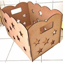 Caixa De Presente Estrelas - Mdf - Kit Festa - Kit Provençal